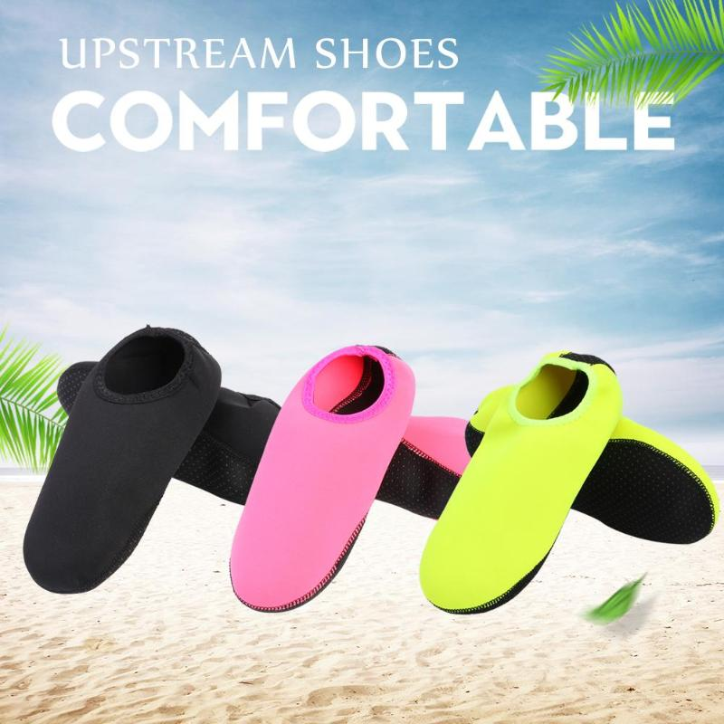 Hombres Mujeres playa zapatos natación buceo calcetines Drifting playa agua Deporte Calcetines río antideslizante Yoga Fitness Wading zapatos