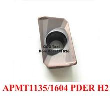 10 pcs 카바이드 블레이드 apmt1135pder/apmt1604pder h2, cnc 밀링 인서트, 수치 제어 선반 공구, 스테인레스 스틸에 적합