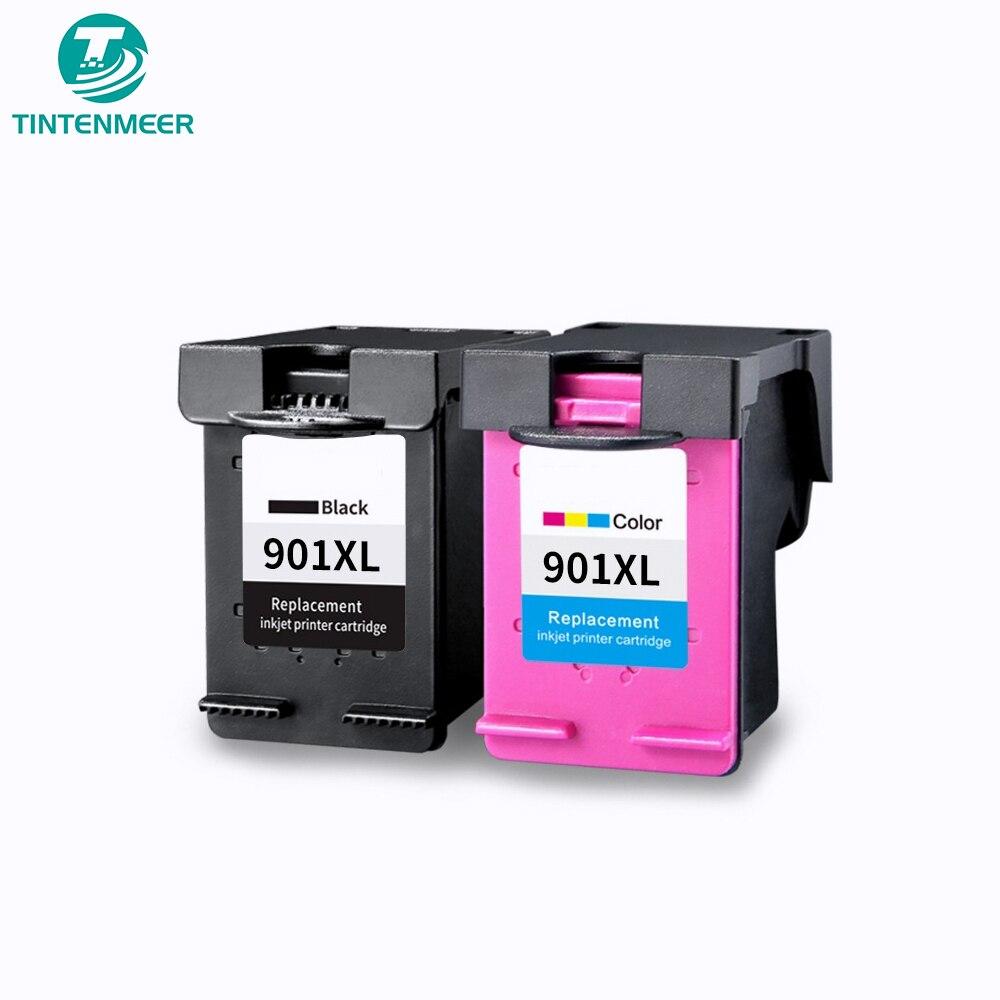 Cartucho de tinta de excelente calidad TINTENMEER 901 compatible con impresora hp officejet 4500 J4525 J4535 J4540 J4550 J4580 J4585