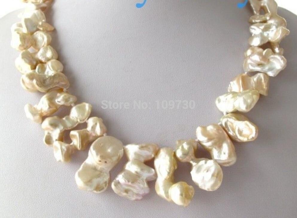 Jewelr 003030 Largo Light Pink Petal Keshi Keishi Collar de Perlas Broche de Plata 925