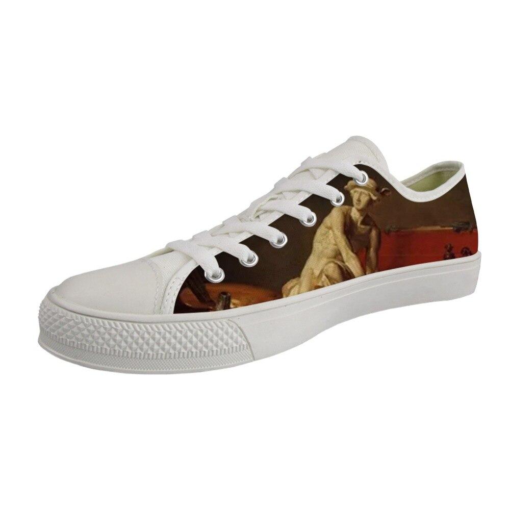 Zapatos ligeros para hombre, zapatos de lona blanca de alta calidad vulcanizados y bajos para hombre, zapatos transpirables con estampado artístico de Chardin