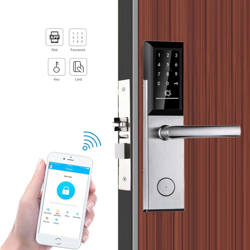 TTLock-قفل باب إلكتروني رقمي ، مع بلوتوث ، بطاقة RFID ، دخول بدون مفتاح ، YOHEEN