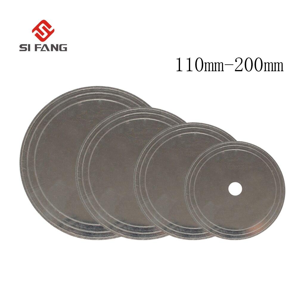 1 шт., супер тонкие Алмазные пилы для лапидаров, режущее лезвие, кромка, мокрый отрезной диск, ювелирные инструменты для стеклянного камня 25 мм 110/150/180/200 мм