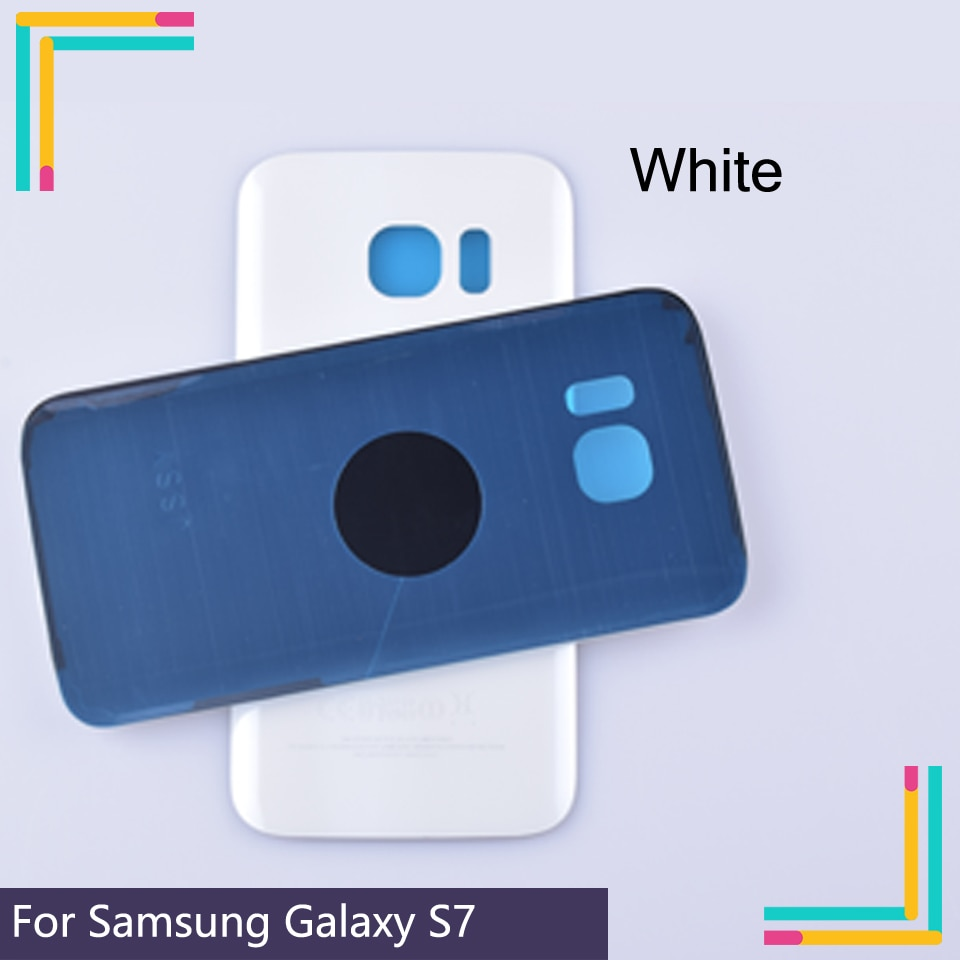 50Pcs/lot Original For Samsung Galaxy S7 G930 G930F G930FD SM-G390F Housing Battery Cover Back Cover Case Rear Door Chassis enlarge