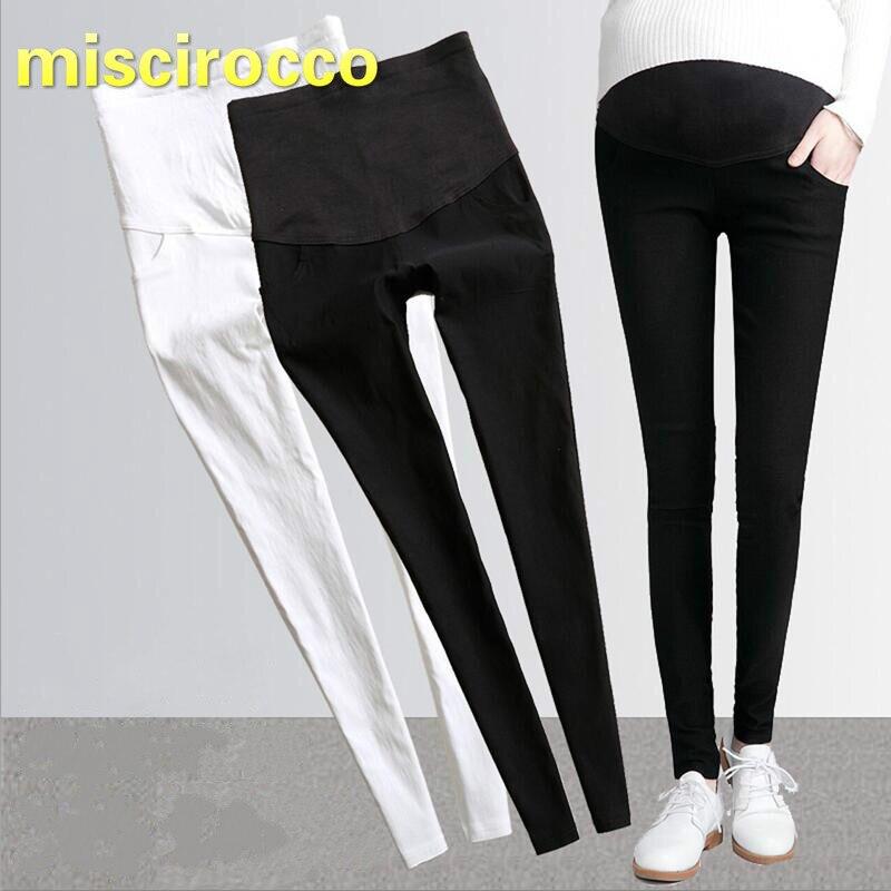 Maternity Pants Big Size 3XL Pregnant Women Pencil Pants Pregnant Women Trousers Black Elasticity Cotton Comfortably Breathable