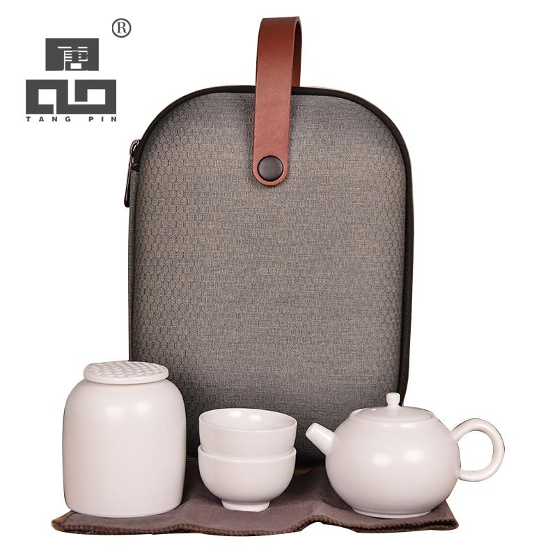 Juego de té de viaje portátil con bolsa de viaje
