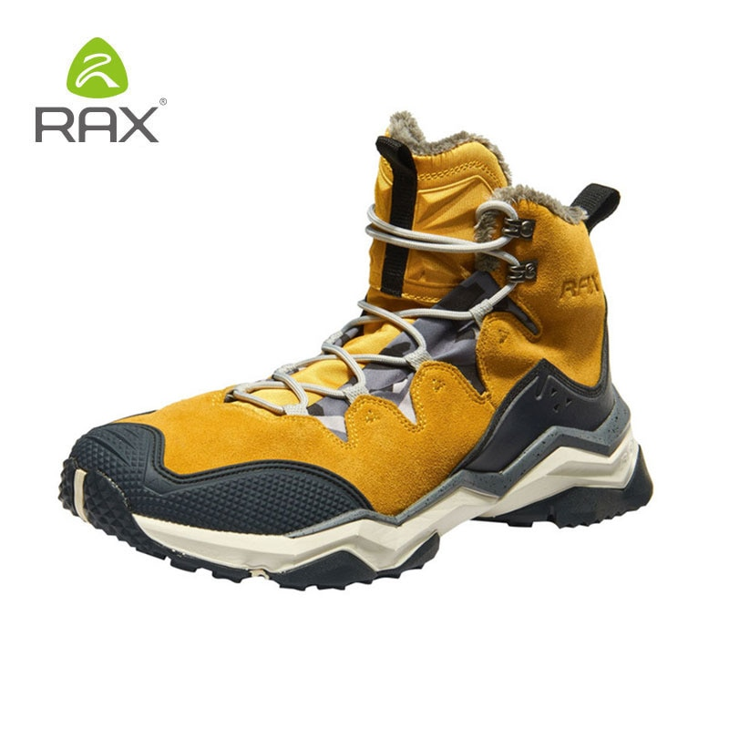 RAX походные ботинки для мужчин и женщин, мужские водонепроницаемые зимние ботинки, флисовая Водонепроницаемая Треккинговая обувь, теплые у...