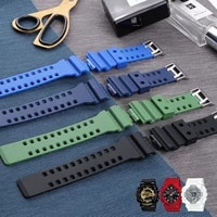 16mm silica gel sports race watch bands waterproof rubber sport silicone strap watchband for casio ga 100 ga 110 gd 120 dw5600