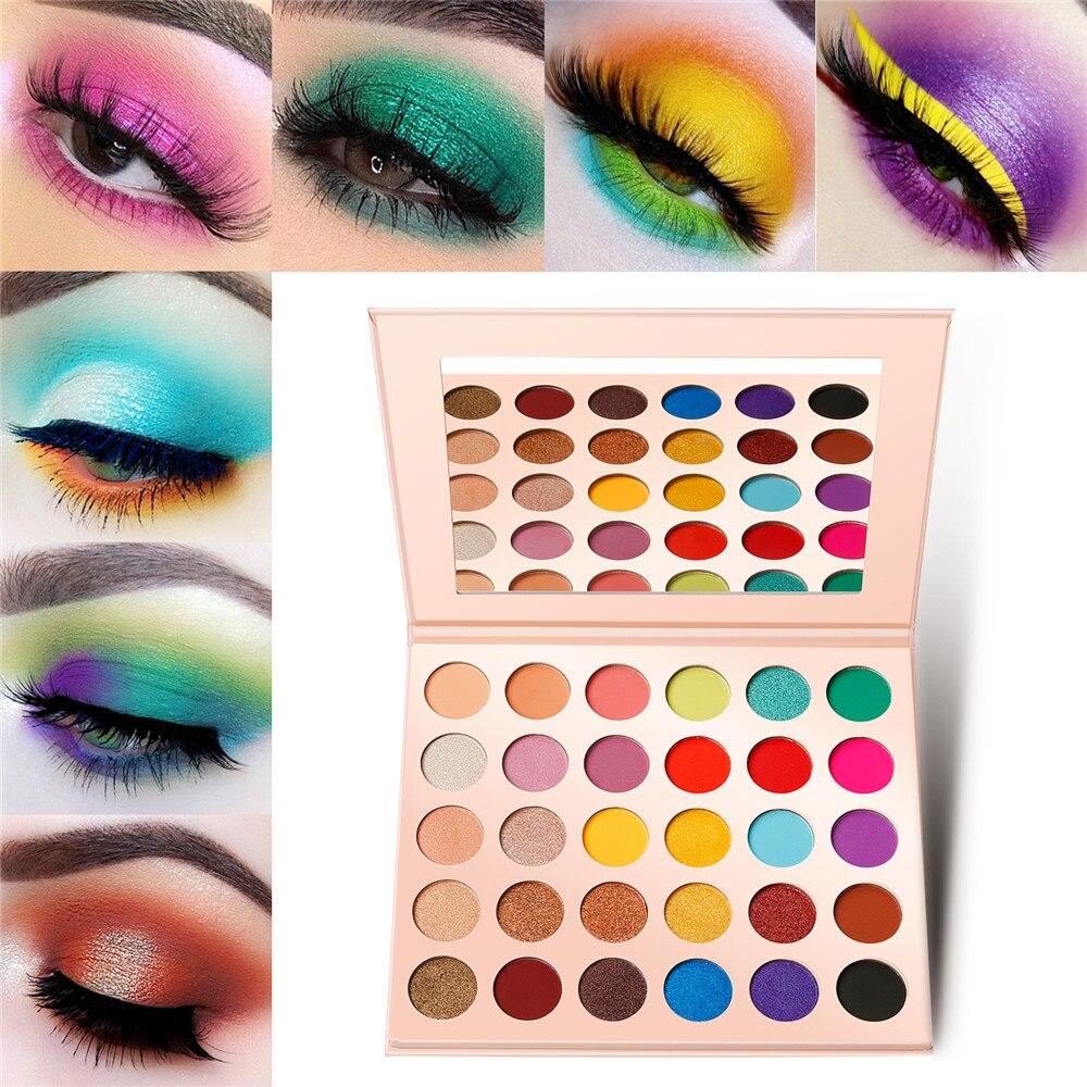 Paleta de sombra de ojos Natural a Blod, paleta de sombras de ojos mate color Nude, juego de maquillaje, Cosméticos metálicos de belleza de marca privada, 30 colores