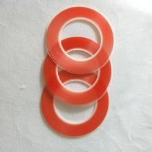 Film rouge épais Double face   1mm ~ 25mm, choisir de 0.2mm de large, ruban adhésif Transparent, très collant, pour iphone ipad HTC écran LCD