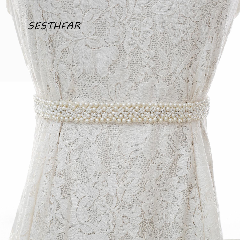 Pearls Wedding Belts handmade Bridal Belts Fashionable Pearl Beaded Bridal Sashes Wedding Accessories