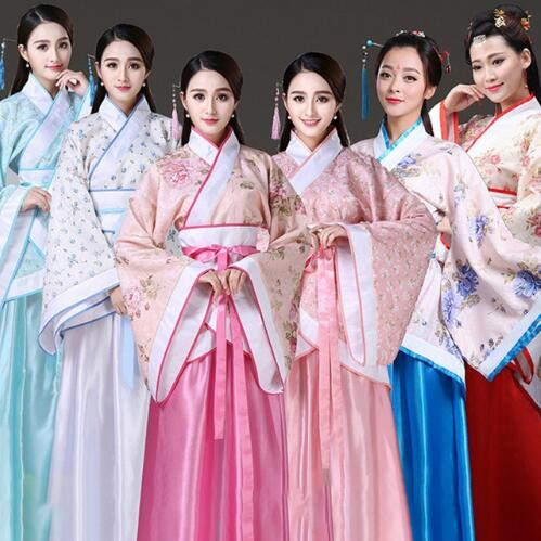 2019 New Chinese Traditional Women Hanfu Dress Chinese Fairy Dress Red White Hanfu Clothing Tang Dynasty Chinese Ancient Costume 32980970123 фото