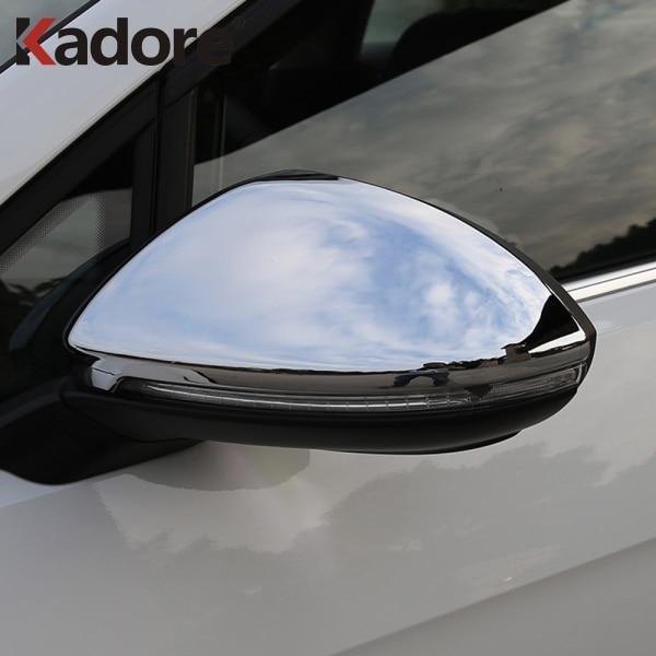 Para Volkswagen GOLF VII 7 MK7 GTI Golf7 2013-2017 2018 ABS cromado cubierta para espejo retrovisor Trim espejos de coche cubre Accesorios