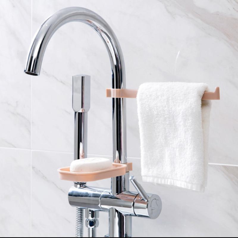 2 unids/set Suspensión de fregadero de almacenamiento en Rack titular esponja de baño grifo de cocina Clip paño plato Clip de drenaje toalla seca organizador