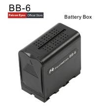 Falcon Eyes 6pcs AA Battery Pack Power Work Like NP-F970 for LED VIDEO LIGHT Panel or Monitor YN300 II DV-160V  BB-6