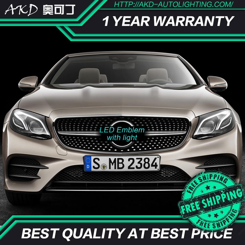 АКД автомобильная светодиодная Эмблема для Mercedes Benz GLE W166 X205 GLC GLS GLE500 Светодиодная звезда DRL Передняя решетка LED логотип зеркальная поверхнос...