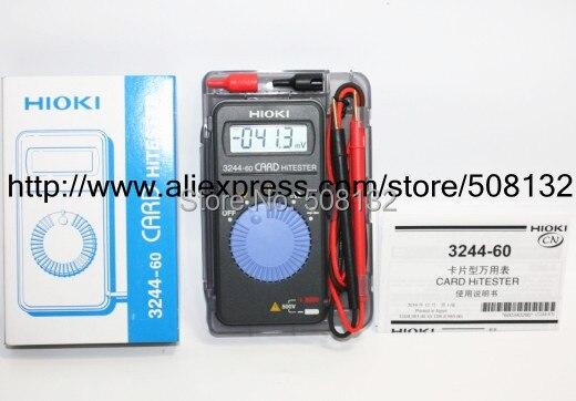 Hioki 3244-60 cartão hitester multímetro digital auto-variando economia de energia! Novo, novo!