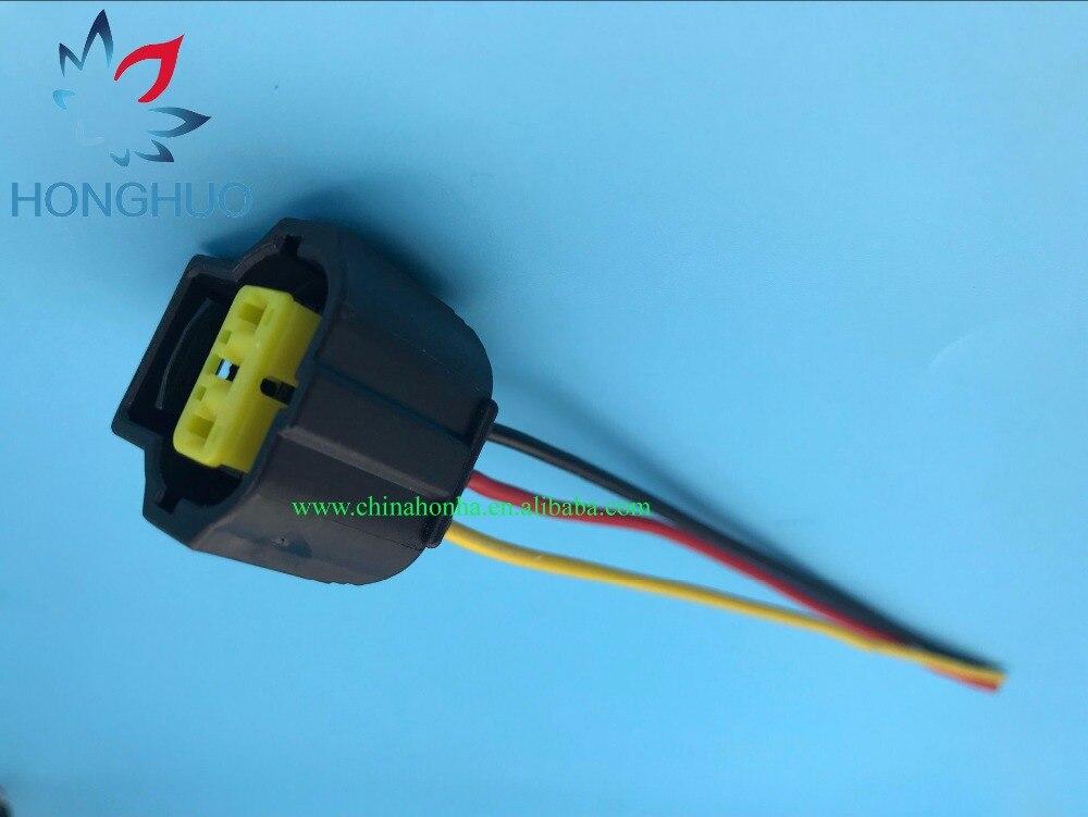 10/20/50 unids/lote Tyco Amp 3 pines/conector del alternador del generador de la manera con el cable en espiral Escap Focus Fiesta Mondeo 184032-1