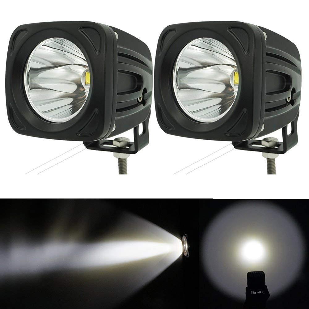 2pcs 12v 24v extermal light 25w Square LED Work Light 6000K White Spot led work lamp for 4x4 Offroad ATV Truck Driving Light