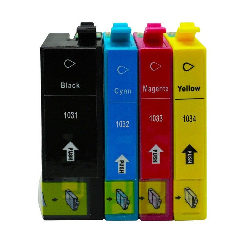 Cartucho T1031 T1032 T1033 T1034 cartucho sustituye con Epson Stylus Office T40W TX550W TX600FW TX510FN TX515FN T1100 de inyección de tinta