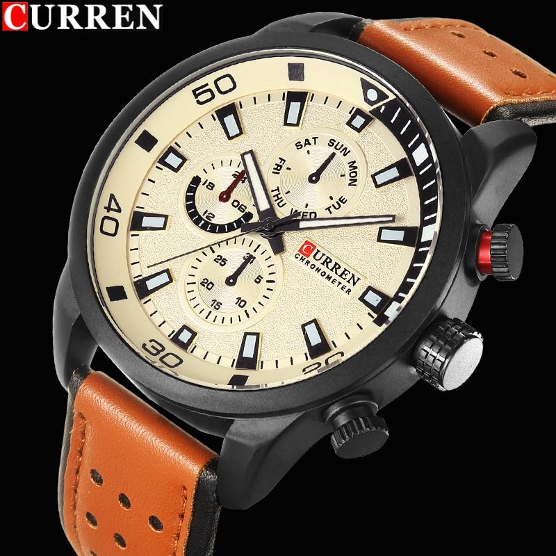 2017 curren elegante relógio masculino de quartzo-relógio à prova dwaterproof água relógio masculino relógios de pulso relogio masculino reloj hombre