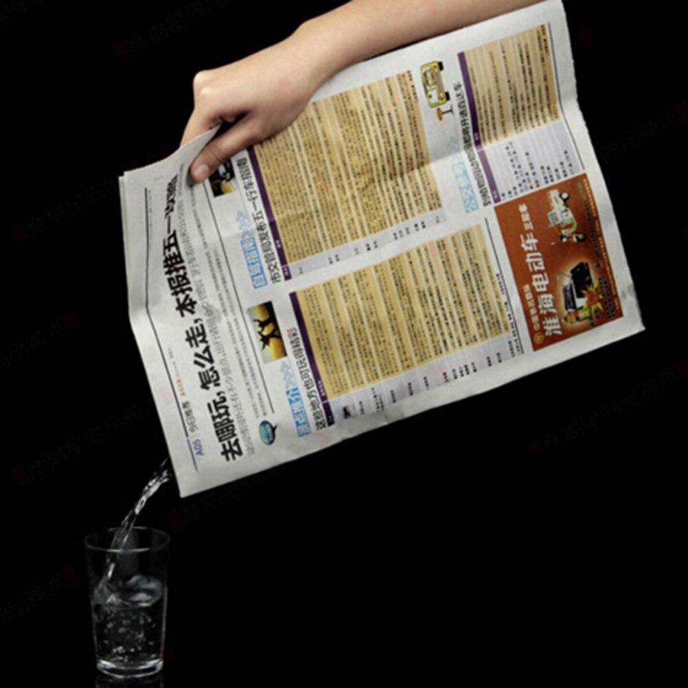 Papel de periódico beber agua primeros planos periódicos ocultos trucos de magia accesorios juguetes clásicos divertidos juguetes de fiesta de Halloween 1 pieza