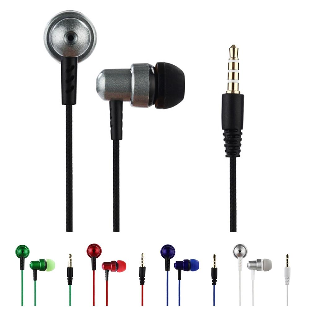 Universal Wired Earphone In Ear Earpiece Nylon Braided Stereo Small Cheap Earphones Super Bass 3.5mm Jack Headset for Smartphone