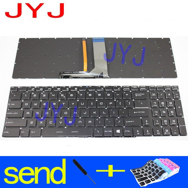 Nuevo teclado para portátil MSI MS-16J5 MS-16JC MS-16JB MS-16H8 MS-16H2 MS-1771 MS-1772 enviar un transparente película protectora