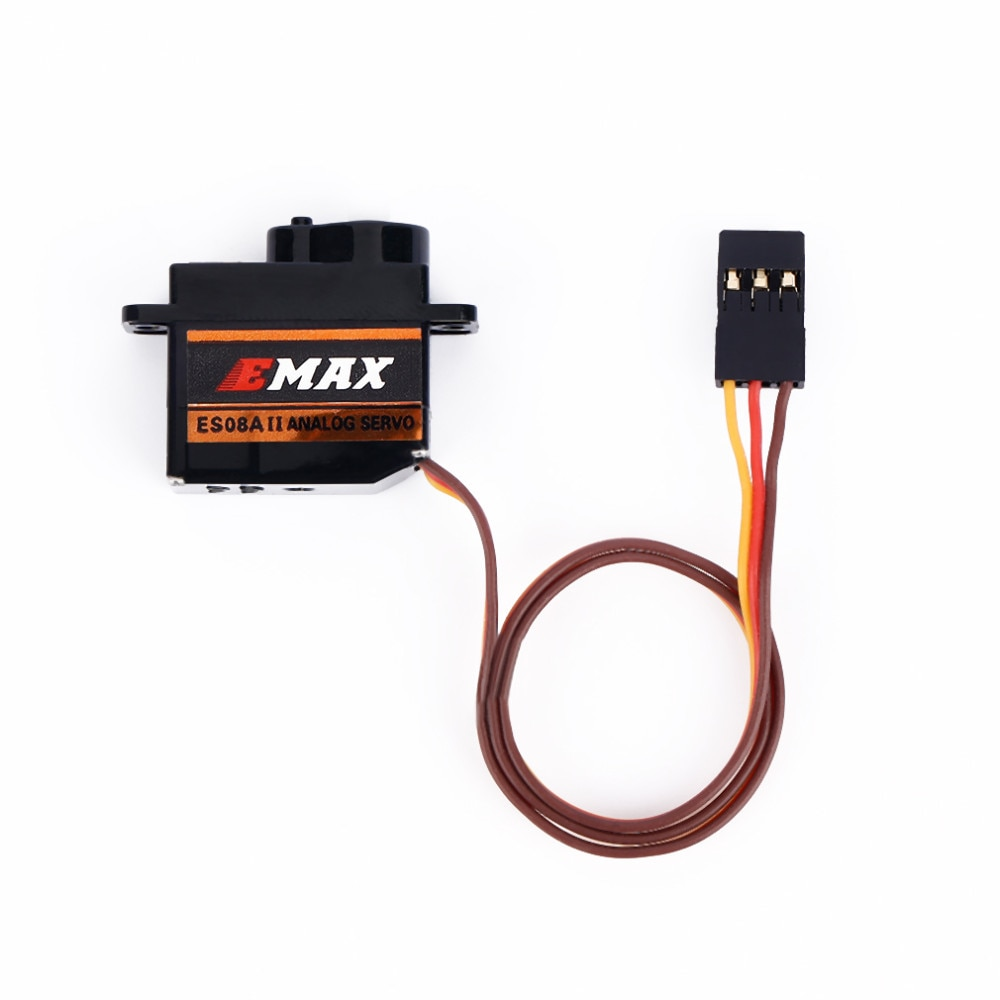 10pcs/Lot Original Emax ES08A II Mini Analog Servo 12g/ 2.0kg/ 0.12 servos Sec Mg90S high quality for RC racing drone