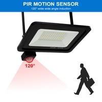 PIR Motion Sensor Led Reflector 10W 20W 30W 50W Flood Light Led Outdoor Waterproof Garden Wall Lamp Floodlight With Sensor 220V