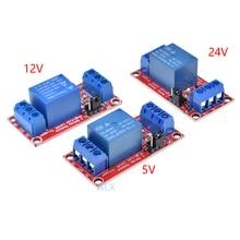1 قناة 5 فولت 12 فولت 24 فولت تتابع وحدة المجلس مع ptocoupler العزلة عالية ومنخفضة المستوى الزناد قناة واحدة تتابع لوح تمديد