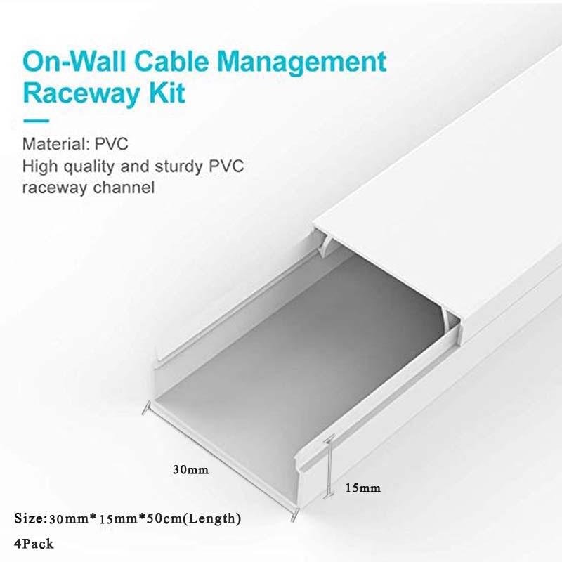 Cubierta de cuerda corrector de canal de gestión de cables, 30x15mm, montaje...