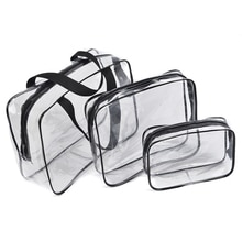 Fashion Women Clear Cosmetic Bags PVC Toiletry Bags Travel Organizer Necessary Beauty Case Makeup Ba