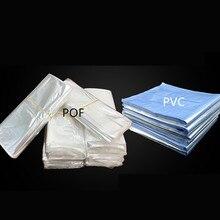 100 stks/partij 10/12/15/20/25/30/40 cm POF Transparante plastic Warmte krimpen zak Heat Seal Wikkelen punch Gift verpakking opslag pocket