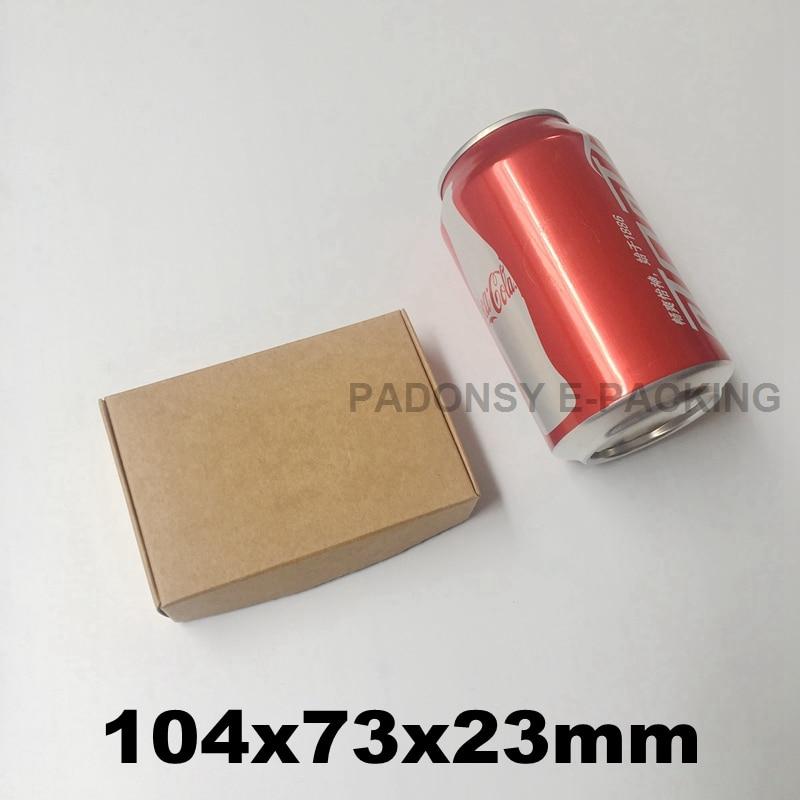 50 Uds. De Cajas de papel Kraft marrón de 10,4x7,3x2,3 cm, embalaje...