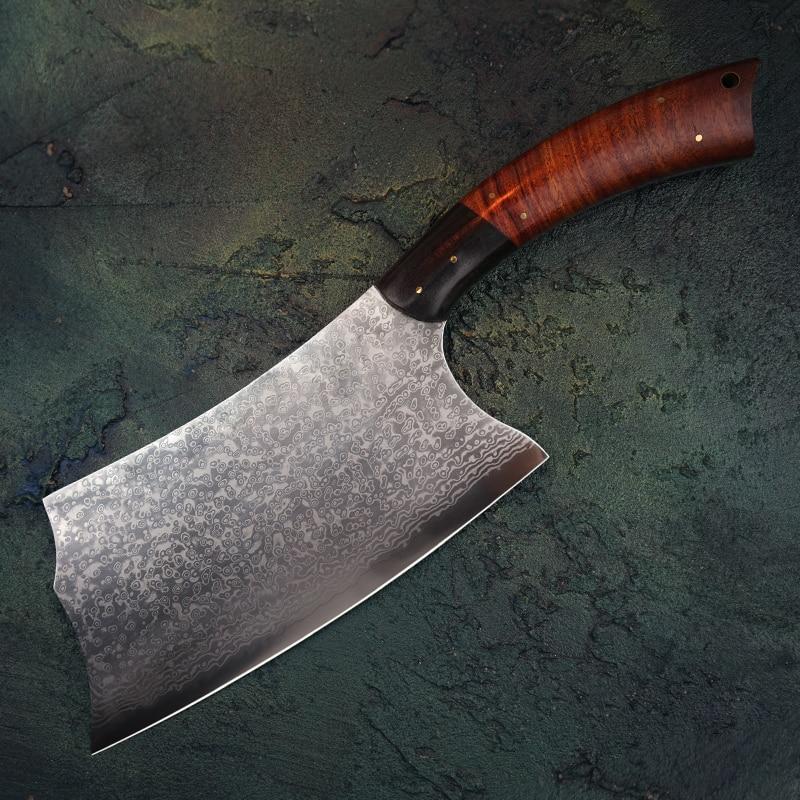 FZIZUO-سكين الشيف الصيني من الفولاذ الدمشقي ، VG10 ، 7.5 بوصة ، أدوات المطبخ ، اللحوم ، الخضار