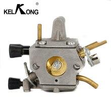 KELKONG carburador para STIHL FS120 FS200 FS200R FS250 FS300 FS350 Trimmer de cortadora de césped cortador de cepillo 4134 de 120 a 0653