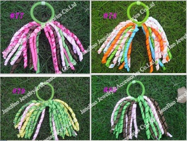 free shipping 500pcs korker ponytail holders  corker pony streamer hair bows