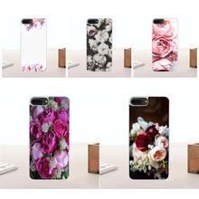 Bixedx Purple Peonies Peony For Huawei G7 G8 Honor 5A 5C 5X 6 6X 7 8 V8 Mate 8 9 P7 P8 P9 P10 Lite Plus Vertical Phone Case