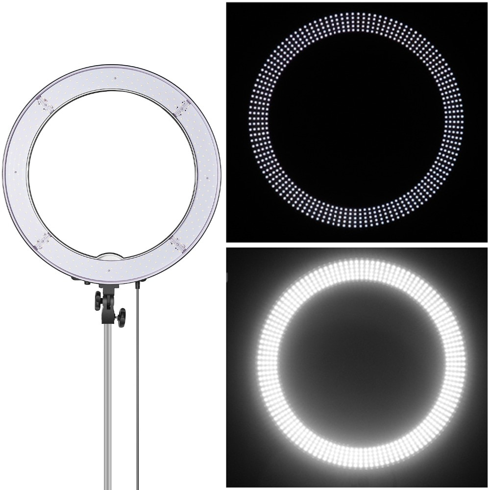 Neewer 18-Inch Ring Light, 55W Dimmable Light with 240 LEDs Color Filter, Soft Tube for YouTube, TikTok, Selfies and Photography enlarge