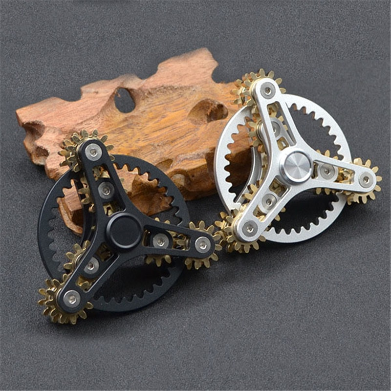 New Gears Fidget Spinner Toys Metal Brass Gear Finger Spinner Metal Hand Spinner Toy EDC Spinning Top Stress Relief For ADHD enlarge