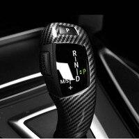 Carbon Fiber Style Gear Shift Handle Sleeve Cover Trim For BMW F15 F16 F25 F26 F10 F18 F07 F06 F12 F13 LHD ABS Car Accessories