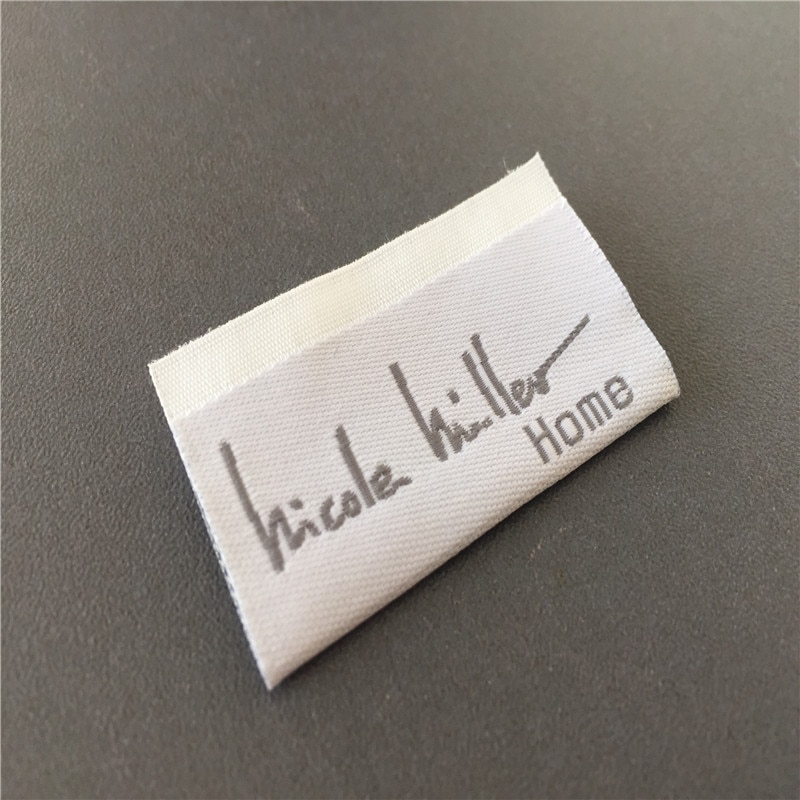Custom High Density Soft Quality Woven Clothing Label Woven Name Tag Name Labels custom double density black background woven label clothing label name label