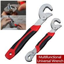 Universal Multi-Funktion Schlüssel 8-32mm Ratsche Spanner Hand Werkzeuge Einstellbarer Griff Wrench Set