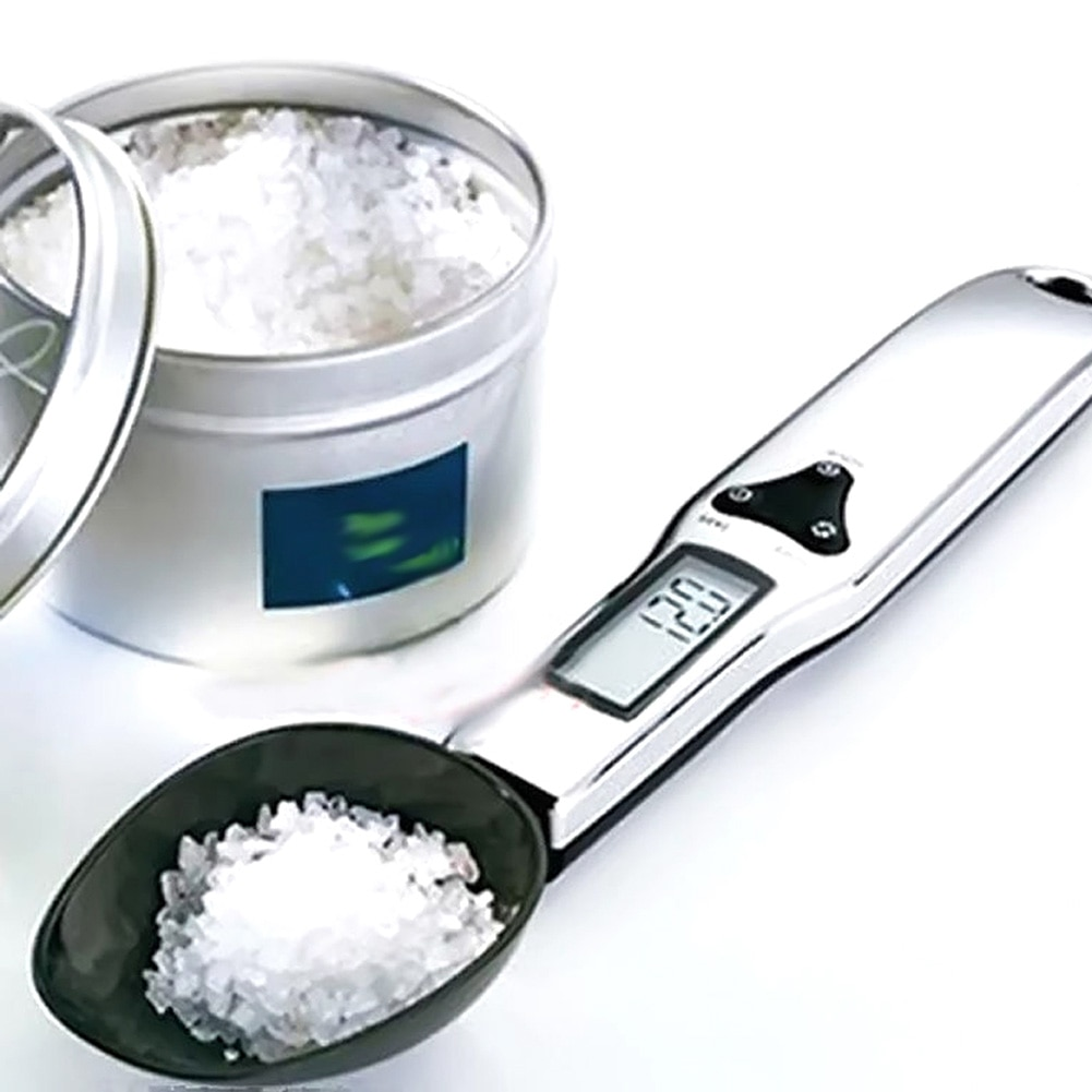 Cucharas digitales de medición precisa 500g/0,1g, cuchara electrónica LCD Digital, peso voluminoso, balanza de comida, Mini báscula de cocina