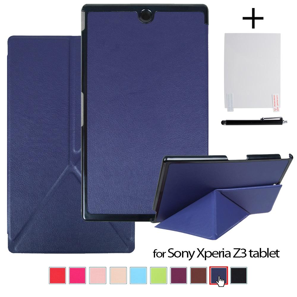Funda para Sony Xperia Z3 Compact 8 Tablet New PU carcasa de cuero transformador + película protectora de pantalla + Stylus