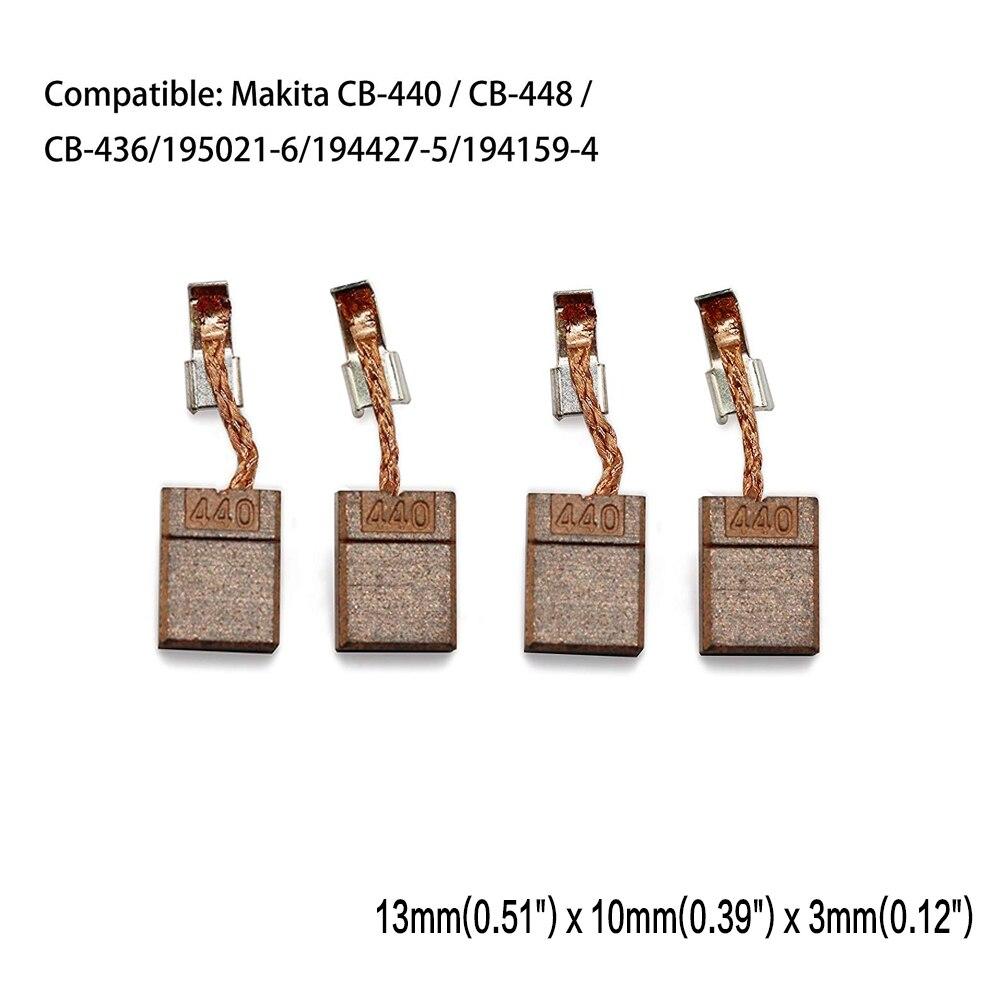 Replacment CB440 Carbon Motor Brushes For Makita CB-440 / CB-448 / CB-436/195021-6/194427-5/194159-4 BTS130RFE DHP446RFE DCPB16
