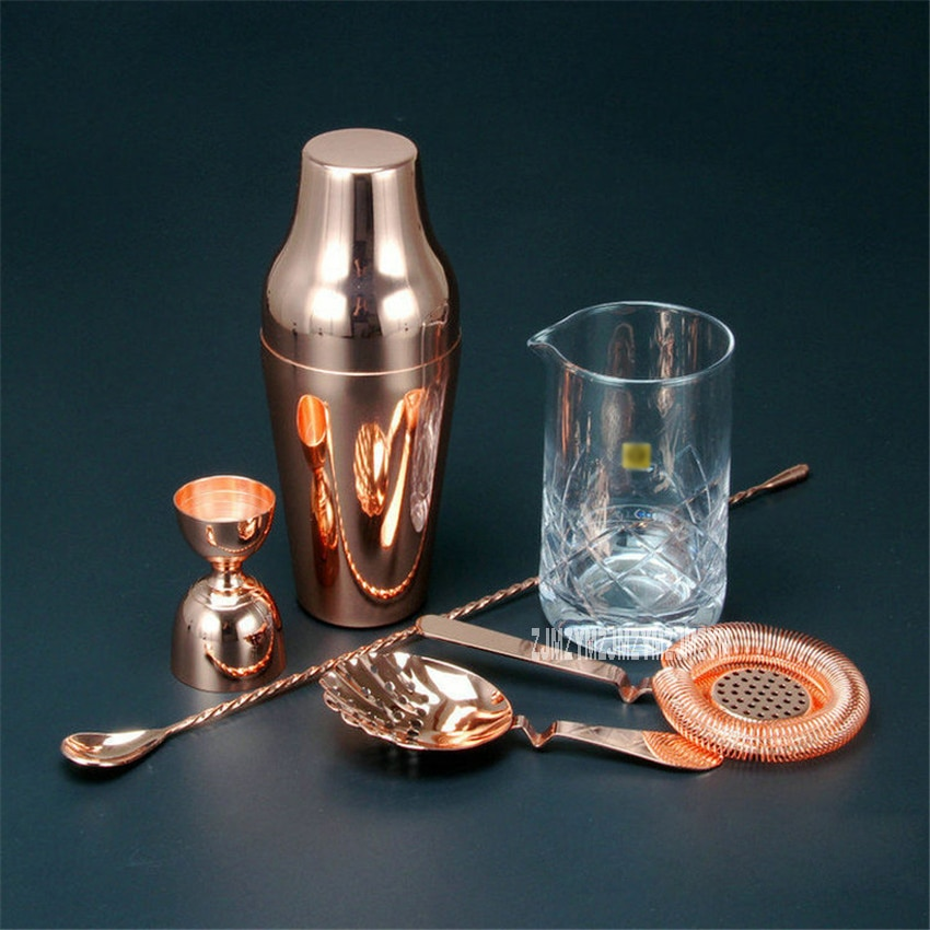 ¡Producto en oferta! Conjunto para coctelera barman Golden 304 de acero inoxidable, mezclador, bebidas, barman, Kit de navegador, herramientas para bares