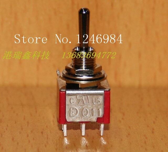 [SA]T8012A dual seis-pin dual trigger reinicio M6.35 pequeño interruptor de palanca Q11 Deli Wei de Taiwán 1MD4-50 unids/lote
