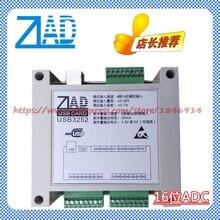 ZLAD module USB carte dacquisition de données avec coque 4 route 16 bits ADC 8 route DI 8 route DO 16 bits module publicitaire